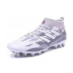 low priced 3b64b 0cfa5 Beste 2017 Adidas ACE 17.3 Primemesh AG Hvit Gra Fotballsko -Billig Adidas  ACE Fotballsko