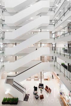 Interior of Skanska HQ. Architect: Arkkitehtitoimisto Larkas & Laine Oy