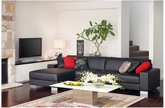 Durban 3 Seater plus Chaise Harvey Norman   2160 x 970 x 860 or   2440 x 970 x 860