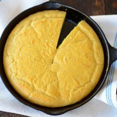 Low-Carb Cornbread actually has no corn. It's made of almond flour, golden flaxmeal and eggs. Looks tasty!