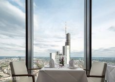 maintower-restaurant-lounge-frankfurt-0461 Rhein Main Gebiet, Restaurant Lounge, Travel List, Maine, Beautiful Places, Germany, Tower, Street View, Business