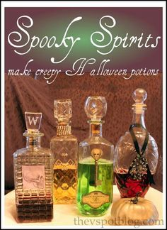 diy halloween diy spooky spirits easy halloween potions you already have in