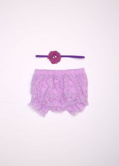 Lavender bloomer set Newborn bloomer set Lace by BabyBouteek