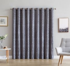 Gracewood Hollow Tucakovic Energy-efficient Fabric Blackout Curtains (Patio W x L - Silver)(Polyester, Floral) Unique Curtains, Cool Curtains, Rod Pocket Curtains, Colorful Curtains, Grommet Curtains, Hanging Curtains, Curtain Fabric, Blackout Curtains, Panel Curtains