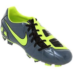 Chuteira Nike Total 90 Shoot 3 FG – Chumbo e Verde - http://batecabeca.com.br/chuteira-nike-total-90-shoot-3-fg-chumbo-e-verde-netshoes.html