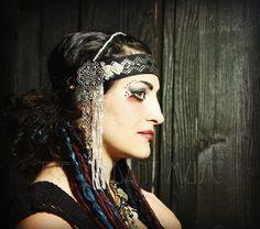 Assuit Tribal Headdress Glitz Cut Steel Black от theverdantmuse