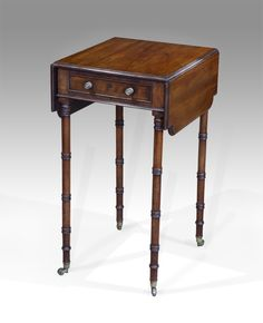 Pretty Regency mahogany pembroke work table. £1350. #antique #worktable #regency #interiordesign