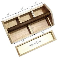 Shop Natural Wood Color Wooden Craft Tool Box With Handle - Overstock - 20234621 Tool Box Diy, Wood Tool Box, Wooden Tool Boxes, Wood Tools, Woodworking Joints, Woodworking Projects Plans, Machinist Tool Box, Chainsaw Wood Carving, Tack Trunk