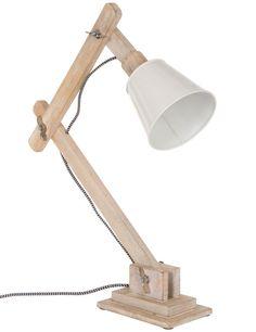 Houten tafellamp Scandinavisch