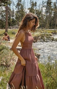 Mode Hippie, Bohemian Mode, Boho Summer Dresses, Summer Dress Outfits, Summer Casual Dresses, Autumn Dresses, Boho Fashion Summer, Boho Style Dresses, Winter Fashion