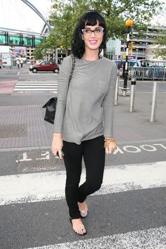 Katy Perry casual style is so cute.
