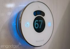 Oooh. This looks fancy.  Honeywell's Lyric thermostat is a worthy Nest competitor (hands-on)