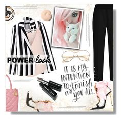 """Power Puff"" by eilselrenrag ❤ liked on Polyvore featuring Dsquared2, Chanel, Yves Saint Laurent, Custommade, Wildfox, Bobbi Brown Cosmetics and powerlook"