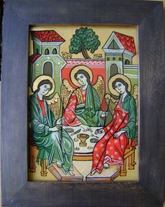 Religious Icons, Folk, Board, Glass, Artist, Pictures, Crafts, Painting, Image