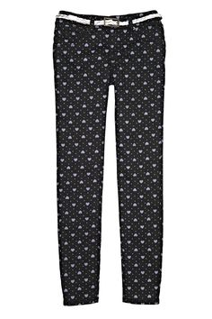 what a sweetheart! — love heart print pants