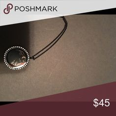 Necklace Black Halloween origami owl with plate Jewelry Necklaces