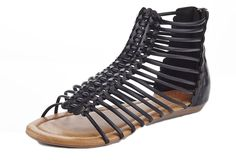 Henry Ferrera Women's Kiko Bar Strappy Gladiator Flat Sandals: These strappy gladiator styled sandals are a staple for the warm seasons! Dynamic straps and a flat sole make this sandal the epitome of summer comfort and style. Flat Gladiator Sandals, Summer Outfits, Slip On, Bar, Stuff To Buy, Image Link, Seasons, Awesome, Check