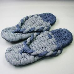 Waraji Sandals made from denim