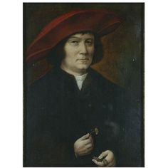 A man in a red hat (Oil painting)