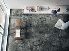 Cooperative Earth Stone Black. Amazing Italian Porcelain Tile With Huge Range. 12x24, 16x24 and 24x24 Pattern