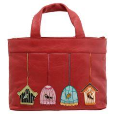 The Yoshi Birds Leather Grab Bag Autumn Winter 2017 Bird Lique Luggage Accessories
