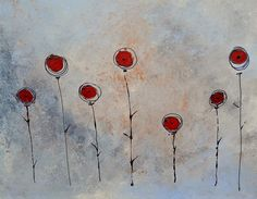Modern Flowers Painting  - Modern Flowers Fine Art Print