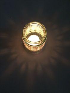 Handmade Crocheted Tea Light Jar in White