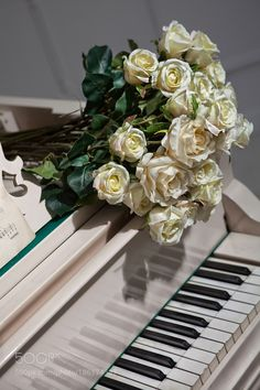 Bouquet of roses on the grand piano Exotic Flowers, Amazing Flowers, Beautiful Roses, Wallpaper Iphone Disney, Cute Wallpaper Backgrounds, Piano Photography, Nature Photography, Fruit Doodle, Bunch Of Red Roses