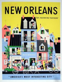 New Orleans #travel #poster