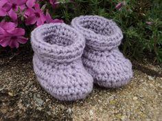 Wool Baby Booties Purple newborn by WendysWonders127 on Etsy, $12.00
