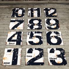 Decorating with Numbers is very hot this season. Number wall art and large number signs offer creative ways to add minimal style with an industrial edge. For more decorating with numbers ideas visit Antique Farmhouse. Industrial Wall Art, Vintage Industrial Decor, Industrial Signs, Modern Industrial, Vintage Decor, Vintage Furniture, Vintage Items, Antique Farmhouse, Farmhouse Decor