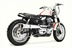 Ace motorcycle builder Greg Hageman has been planning to build a scrambler for 15 years. And here it is—a killer Harley designed for the dirt. Brat Bobber, Sportster Scrambler, Harley Scrambler, Harley Davidson Scrambler, Yamaha Virago, Harley Davidson Street Glide, Scrambler Motorcycle, Harley Davidson Motorcycles, Motorcycle Gear