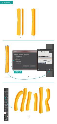 How to draw frech fries in Adobe Illustrator #Pommes #Design #Tutorial #Zeichnen #AdobeIllustrator #Typografie www.rauschsinnig.de