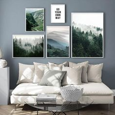 Foggy Forest in Mountains Landscape Canvas Wall Art – director office interior Canvas Poster, Canvas Wall Art, Photowall Ideas, Foggy Forest, Dark Forest, Landscape Walls, Forest Landscape, Pink Room, Inspiration Wall