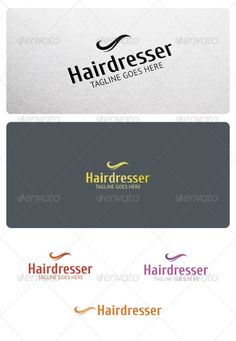 Hairdresser Logo Template  #GraphicRiver