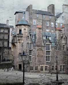 Edinburgh Photography Scotland Street Art, Edinburgh Print Royal Mile, Old Town, Urban Art, City Print, Slate Blue - Writers' Nook