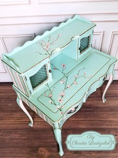 Your place to buy and sell all things handmade Turquoise Furniture, Funky Furniture, Refurbished Furniture, Repurposed Furniture, Home Decor Furniture, Furniture Makeover, Furniture Design, Chalk Paint Furniture, Decoupage Furniture