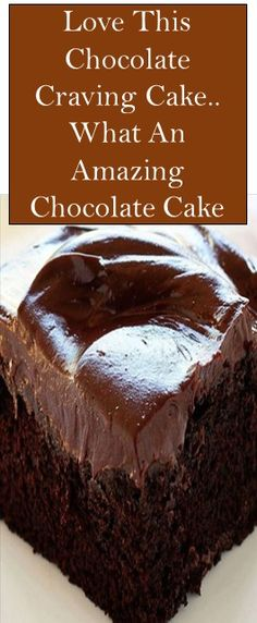 Love This Chocolate Craving Cake. What An Amazing Chocolate Cake : Love This Chocolate Craving Cake. What An Amazing Chocolate Cake Köstliche Desserts, Chocolate Desserts, Delicious Desserts, Cake Chocolate, Chocolate Frosting, Lemon And Coconut Cake, Cake Recipes, Dessert Recipes, My Best Recipe