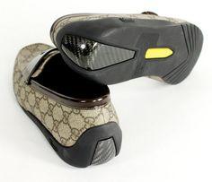 Gucci GG Plus Carbon Fiber Moccasins