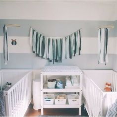 We've rounded up the gorgeous twin nursery ideas to inspire you as you design your twin nursery and create a special space for each baby. Nursery Paint Colors, Nursery Layout, Nursery Design, Baby Design, Nursery Ideas, Baby Nursery Rugs, Nursery Twins, Nursery Room, Grey White Nursery