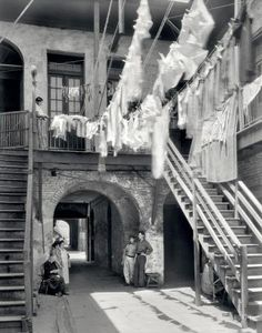 "French Quarter Laundry photo.  New Orleans circa 1937. ""1133-1135 Chartres Street."""