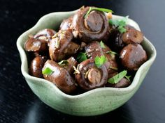 These roasted mushrooms with rosemary make a great party snack
