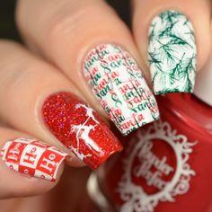Holiday Nail Art Designs of 2017 LIna Nail Art stamping