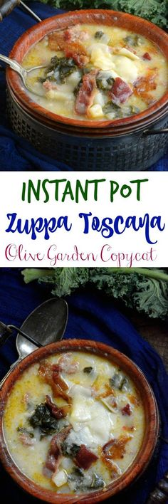 Toscana Olive Garden Copycat Instant Pot Soup Zuppa Toscana Olive Garden Copycat Instant Pot Soup Creamy, Spicy served with warm bread makes a great meal. Much better than Olive Garden. Instant Pot Pressure Cooker, Pressure Cooker Recipes, Pressure Cooking, Pressure Pot, Copycat Recipes, Soup Recipes, Cooking Recipes, Healthy Recipes, Recipies