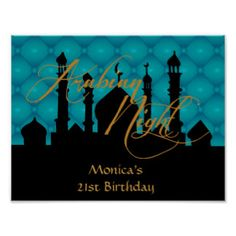 Arabian Night, 21st Birthday Party Poster