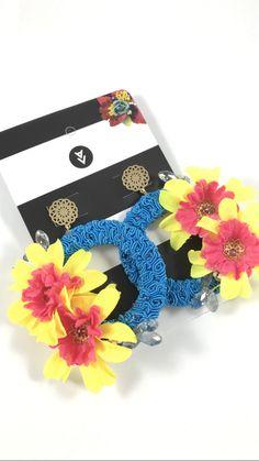 Maxi Aretes primavera con flores 💐 by Alejandra Valdivieso - Maxi earrings with flowers. Jewelry Design, Earrings, Flowers, Bangle Bracelets, Ear Rings, Necklaces, Stud Earrings, Ear Jewelry, Flower