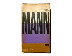 """Paul Rand paperback book cover design, 1957. """"Essays"""" by Thomas Mann. by NewDocuments on Etsy"""