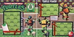 Teenage Mutant Ninja Turtles Boy 2 Premade Scrapbook Pages Paper Piecing Cherry | eBay