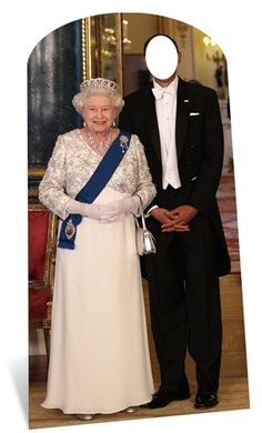 Queen Elizabeth II Lifesize Cardboard Stand-in Cutout British Themed Parties, British Party, Queen 90th Birthday, 90th Birthday Parties, 8th Birthday, Birthday Celebration, Photo Cutout, Balloons And More, Party Stores
