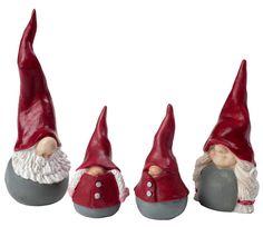 Santa High Hat familie, sæt á 4 stk. - KUN 1 SÆT TILBAGE